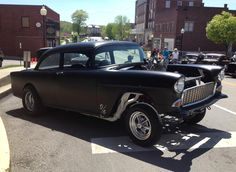 "Tim Turner Shares His 1955 Chevy 150 Gasser, ""433 ci big block Chevy, tunnel ram two four barrels, Muncie four-speed shifted by a Hurst Performance Products vertical gate. 12 bolt rear with Moroso posi and 4:10 gear."" #trifivetuesday #55chevy"