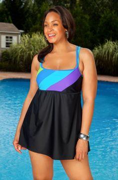 49edec371ea Women s Plus Size Swimwear - Delta Burke Perfect Angle Swimdress Style Delta  Burke