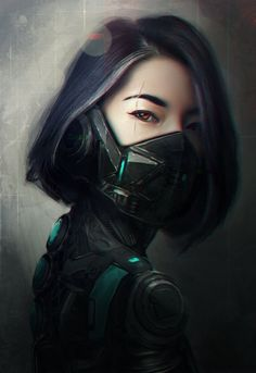 64 Badass Cyberpunk Girl Concept Art & Female Character Designs Cyber Warrior By Sandra Posada Female Character Concept, Fantasy Character, Character Art, Cyberpunk Kunst, Cyberpunk Girl, Cyberpunk 2077, Cyberpunk Tattoo, Cyborg Art, Badass