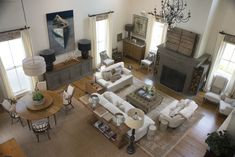 photo by Med Dement  #homedecor #industrial #rustic #tuscan #airy #livingroom #highceilings