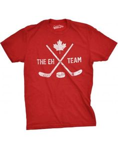 Get Here Mens The Eh Team Canadian Hockey Sticks And Puck Sporting T Shirt Long Sleeve Sweasthirt Hoodie Funny Gifts For Him, Funny Shirts For Men, Cool Shirts, Men's Hockey, Hockey Gifts, Canada Hockey, Team Shirts, Sport T Shirt, Printed Shirts