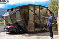 GazeBox Foldable Carport Gazebo Garage for Cars, Motors, Campers and more!