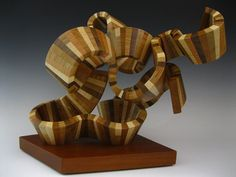 wood sculpture abstract sculpture wood art by SteveFrank71 on Etsy