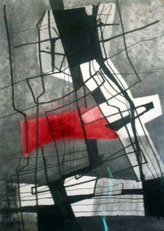 FRITZ WINTER, Komposition, ca. 1975, 60,8 x 42,5 cm, Mischtechnik auf Zeichenkarton, verso bezeichnet