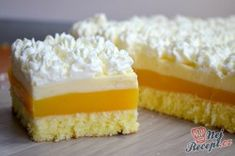 Lilian saved to skandinavischFrisches Orangendessert mit Schlagsahne - Ramadan Recipes, Aesthetic Food, Cakes And More, Vanilla Cake, Sweet Recipes, Baking Recipes, Cheesecake, Food And Drink, Sweets