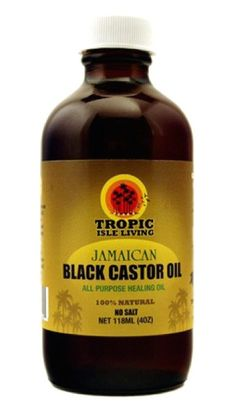 Tropic Isle Living Jamaican Black Castor Oil 4 Ounce