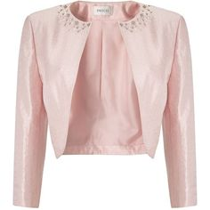 5d7e64341b Precis Petite Pink Embellished Bolero ($145) ❤ liked on Polyvore featuring  outerwear, jackets, petite, pink, women, petite jackets, embellished  jacket, ...