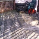 Deck Staining And Repairs Mississaugahandyman When your deck starts looking tired like this and your boards are starting to fissure and look ugly it's time to change them