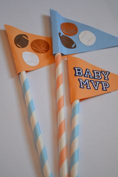 Some pennants we made...  looking cute!