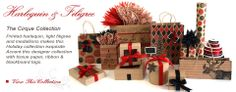 Kraft brown, black, red, cream pretty gift wrapping ideas....love the moose