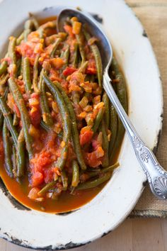 Turkish Stewed Green Beans