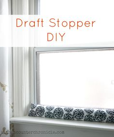 Draft Stopper DIY - a simple project that will save you money, energy and keep your home a little bit cozier this winter. Perfect for windows or doors. Simple green living home diy project.