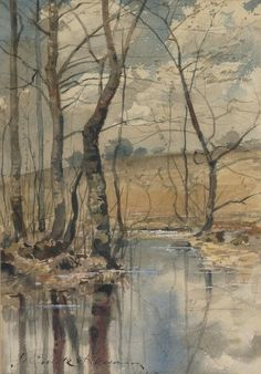 laclefdescoeurs:  Woodland Pond, 1882, Frederick Childe Hassam