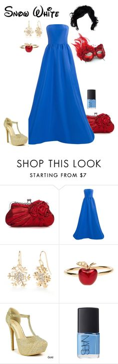 """Disney - Snow White"" by briony-jae ❤ liked on Polyvore featuring Masquerade, Oscar de la Renta, Kim Rogers, Alison Lou, Celeste, NARS Cosmetics, women's clothing, women's fashion, women and female"