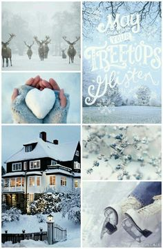 May your treetops glisten - winter moodboard Christmas Mood, Blue Christmas, Christmas Quotes, Collages, Decoration Christmas, Color Collage, Mood Colors, Beautiful Collage, I Love Winter