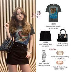 Korean Fashion Dress, Blackpink Fashion, Fashion Dresses, Luxury Fashion, Fashion Tips, Fashion Hacks, Cartier Wedding Bands, Wedding Ring Bands, Looks Teen