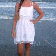 White sun dress Worn twice, excellent condition, price is negotiable. Charlotte Russe Dresses Midi