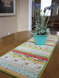 (This easy quilted table runner tutorial was originally a guest tutorial at V & Co.) Today I'm going to share a quick method of making a quilted table runner by quilting and piecing all at the same time! (Does that blow your mind? I hope not. It's really fun. And easy, I promise.) Let's start playing, …