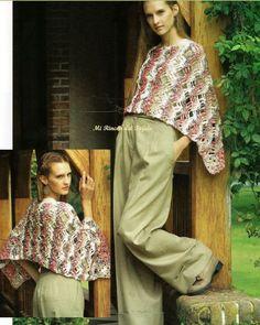 Para Ti Crochet No 12 - Claudia Julianna Pineda Neira - Picasa Web Albums Harem Pants, Khaki Pants, Views Album, Archive, Inspiration, Fiber, Magazine, Fashion, Shawl