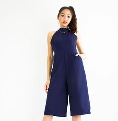 Pockets are everything!  Featuring Halle Halterneck Jumpsuit in deep navy blue. A breezy lightweight fabric and sultry halter neckline shows off your shoulders & back. #peepboutique #peepb  Available in navy blue wine red & black @ www.peepb.com. Take 30% off this week only with code 'IM30TAKE30'. . . . #shoppingroll #ootd #outfit #looks #lookbook #fashion #style #igmalaysia #malaysiaonlineshop #onlineshopmalaysia #igmy #ootdmalaysia