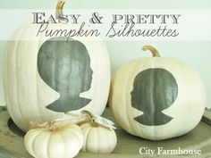 Easy & Pretty Pumpkin Silhouettes For Fall-City Farmhouse