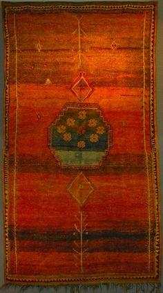 "berber rug  high atlas marocco circa 1940  255 x 147 cm (8'4"" x 4'10"") Alberto Levi Gallery"