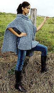 Poncho de trico
