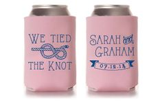 Custom Wedding Koozie  We Tied The Knot by SplendidSips on Etsy, $75.00