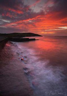 Dramatic #Sunset #Trefor #NorthWales