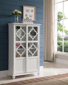 Talk about one stylish bookcase this decorative piece really ups kings brand furniture white finish wood curio bookcase cabinet with glass doors planetlyrics Images