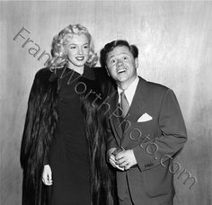 Marilyn Monroe and Mickey Rooney 1948