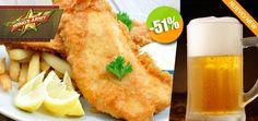 Wing's Army Zona Romántica - $79 en lugar de $160 por 1 Exquisita Orden de Fish & Chips + 1 Cerveza de Barril ó 1 Limonada. Click: CupoCity.com