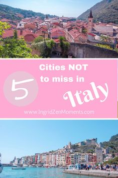 5 cities you don't have to miss in Italy | Italy travel | not so well known Italian cities | Italy