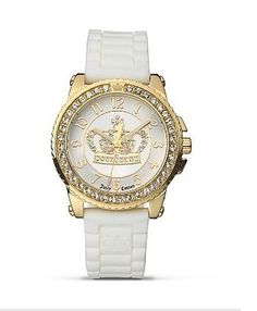 Juicy Couture Watch in Gold and White Initial Jewelry, Jewelry Box, Jewelry Accessories, Jewelry Watches, Juicy Couture Watch, Best Gifts For Girls, Beautiful Watches, Michael Kors Watch, Black Nikes