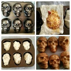 Dreams or nightmares do come true. Finally I was able to get a skull baking pan. Halloween Pizza, Halloween Appetizers, Halloween Dinner, Halloween Food For Party, Halloween Skull, Halloween Treats, Halloween Baking, Halloween 2020, Halloween Decorations