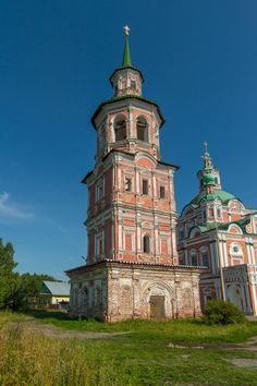 Eglise Saint Siméon et son Beffroi - Veliki Oustioug - Construit vers 1765.
