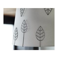 """EDSVALLA Decoration for lamp shade, set 10  - IKEA"" I love this idea for dressing up a lampshade. They can be used again and again, plus you can attach them without any adhesive or other product that would change the lampshade when you remove them."