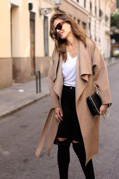 cashmere camel coat looks - Lady Addict
