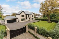 5 bedroom detached house for sale in Stunning new house - adjoining the Mere Golf Resort - Rightmove House Paint Exterior, Dream House Exterior, Exterior House Colors, Dream House Plans, Dream Houses, Home Building Design, Building A House, Classic House Design, House Front
