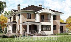 520-001-П Проект трехэтажного дома, просторный домик из пеноблока