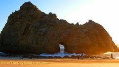 Pfeiffer Beach in Big Sur California is amazing.  It surely is one of the Best Big Sur Beaches!  Arch Rock Pictured.  As you can tell from the people, it is ginormous!