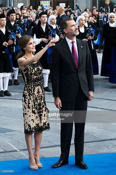 King Felipe VI of Spain and Queen Letizia of Spain attend the Princesa de Asturias Awards 2016 ceremony at the Campoamor Theater on October 21, 2016 in Oviedo, Spain.  (Photo by Carlos Alvarez/Getty Images)