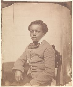 [Young Boy], 1850s Unknown Artist, American School Salted paper print from glass negative