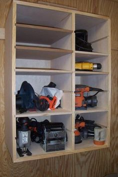 Corded Tool Storage Cubby