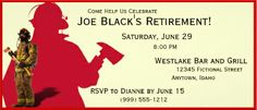 Retirement Party Invitations Show your gratitude and get the retirement party started with these custom retirement party invitations. Retirement Celebration, Retirement Ideas, Retirement Parties, Invitation Ideas, Invites, Fire Party Ideas, Retirement Announcement, Pub Ideas, Retirement Party Invitations