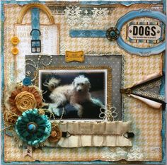 Gabrielle Pollacco designed this stunning layout using the new Happy Tails collection. Love her design!! #BoBunny, @Gabrielle Pollacco