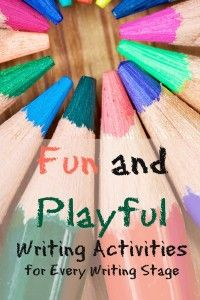 fun and playful writing activities from growingbookbybook. Stages Of Writing, Pre Writing, Writing Workshop, Writing Practice, Writing Ideas, Creative Writing, Kids Learning Activities, Writing Activities, Homeschooling Resources