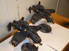Black-Scorpions Stormraven-Avenger Strike-Fighters.