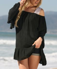 Ananda's Collection Black Lace Cutout Tunic by Ananda's Collection #zulily #zulilyfinds