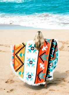 THE ROUND TOWEL CO THE HIPPIE NEST TOWEL ACCESSORIES BEACH TOWELS